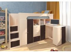 Двухъярусная кровать Астра 11 Дуб молочный/Венге