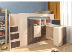 Двухъярусная кровать Астра 11 Дуб молочный/Дуб шамони