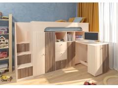 Двухъярусная кровать Астра 11 Дуб молочный/Орех