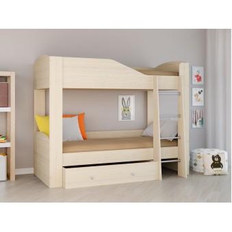 Детская двухъярусная кровать Астра 2 Дуб молочный