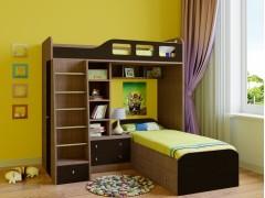 Двухъярусная кровать Астра 4 Дуб шамони - Венге
