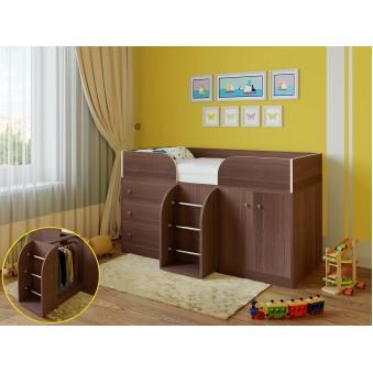 Детская кровать-чердак Астра 5 Дуб шамони