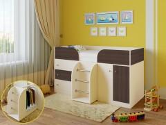 Кровать-чердак Астра 5 Дуб молочный - Дуб шамони