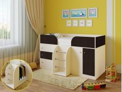 Кровать-чердак Астра 5 Дуб молочный - Венге