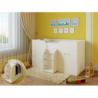 Детская кровать-чердак Астра 5 Дуб молочный