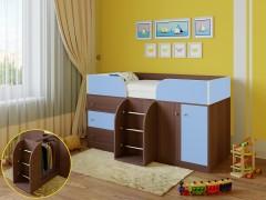 Кровать-чердак Астра 5 Дуб шамони - Голубой