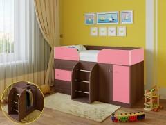 Кровать-чердак Астра 5 Дуб шамони - Розовый