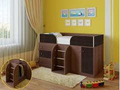 Кровать-чердак Астра 5 Дуб шамони - Венге