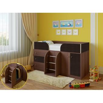 Детская кровать-чердак Астра 5 Дуб шамони - Венге