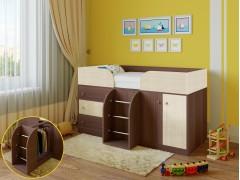 Кровать-чердак Астра 5 Дуб шамони - Дуб молочный