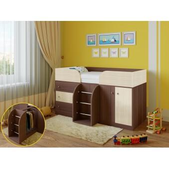 Детская кровать-чердак Астра 5 Дуб шамони - Дуб молочный