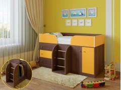 Кровать-чердак Астра 5 Дуб шамони - Оранжевый