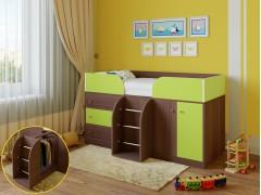 Кровать-чердак Астра 5 Дуб шамони - Салатовый