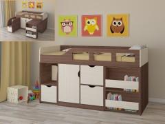Кровать-чердак Астра 8 Дуб шамони - Дуб молочный
