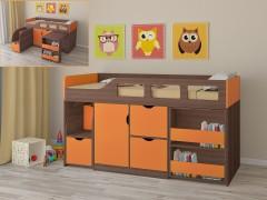 Кровать-чердак Астра 8 Дуб шамони - Оранжевый