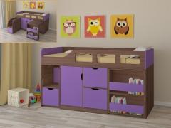 Кровать-чердак Астра 8 Дуб шамони - Фиолетовый