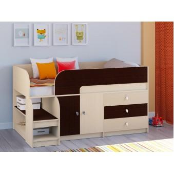 Детская кровать-чердак Астра 9 V1 Дуб молочный - Венге