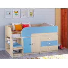 Кровать-чердак Астра 9 V1 Дуб молочный - Голубой