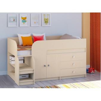 Детская кровать-чердак Астра 9 V1 Дуб молочный