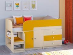 Кровать-чердак Астра 9 V1 Дуб молочный - Оранжевый