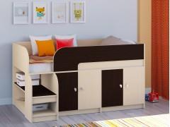 Кровать-чердак Астра 9 V2 Дуб молочный - Венге