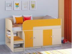 Кровать-чердак Астра 9 V2 Дуб молочный - Оранжевый