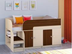 Кровать-чердак Астра 9 V2 Дуб молочный - Орех