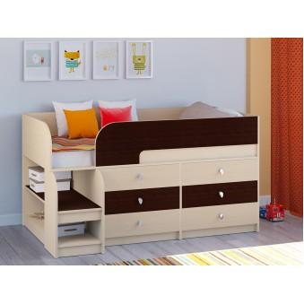 Детская кровать-чердак Астра 9 V3 Дуб молочный - Венге