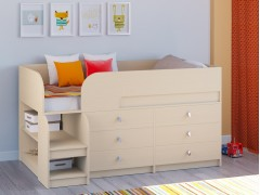 Кровать-чердак Астра 9 V3 Дуб молочный