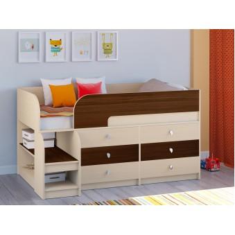 Детская кровать-чердак Астра 9 V3 Дуб молочный - Орех