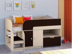 Кровать-чердак Астра 9 V4 Дуб молочный - Венге