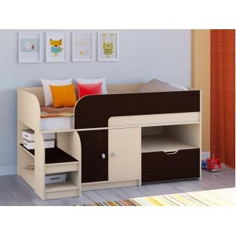 Детская кровать-чердак Астра 9 V4 Дуб молочный - Венге