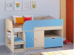 Кровать-чердак Астра 9 V4 Дуб молочный - Голубой