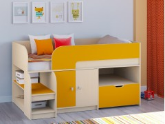 Кровать-чердак Астра 9 V4 Дуб молочный - Оранжевый
