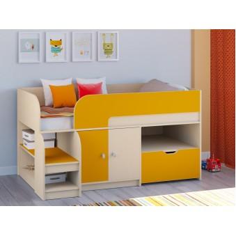 Детская кровать-чердак Астра 9 V4 Дуб молочный - Оранжевый