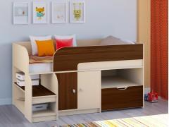 Кровать-чердак Астра 9 V4 Дуб молочный - Орех