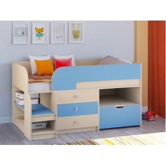 Детская кровать-чердак Астра 9 V5 Дуб молочный - Голубой