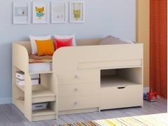 Кровать-чердак Астра 9 V5 Дуб молочный