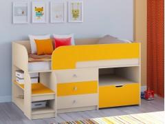 Кровать-чердак Астра 9 V5 Дуб молочный - Оранжевый
