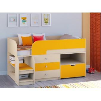 Детская кровать-чердак Астра 9 V5 Дуб молочный - Оранжевый