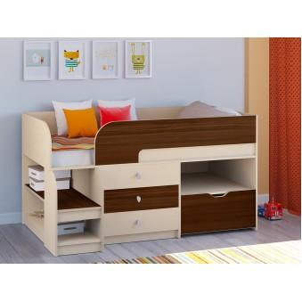 Детская кровать-чердак Астра 9 V5 Дуб молочный - Орех
