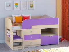 Кровать-чердак Астра 9 V5 Дуб молочный - Фиолетовый