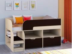 Кровать-чердак Астра 9 V6 Дуб молочный - Венге