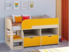 Кровать-чердак Астра 9 V6 Дуб молочный - Оранжевый