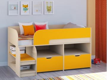 Детская кровать-чердак Астра 9 V6 Дуб молочный - Оранжевый