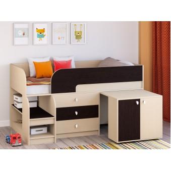 Детская кровать-чердак Астра 9 V7 Дуб молочный/Венге