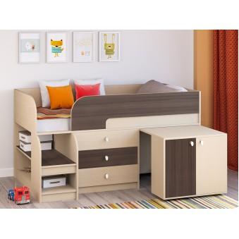 Детская кровать-чердак Астра 9 V7 Дуб молочный - Дуб шамони