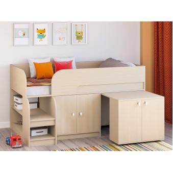 Детская кровать-чердак Астра 9 V8 Дуб молочный
