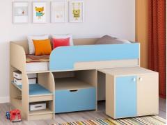 Кровать-чердак Астра 9 V9 Дуб молочный - Голубой