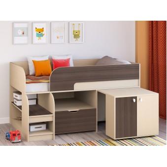 Детская кровать-чердак Астра 9 V9 Дуб молочный - Дуб шамони